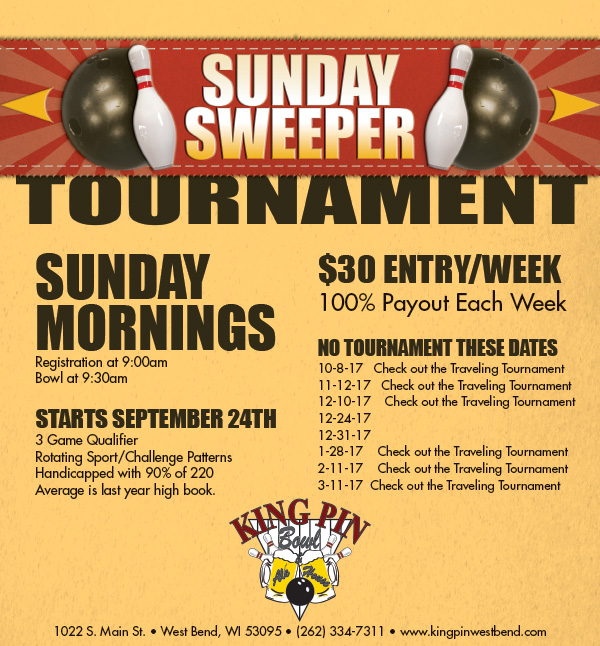 Sunday Sweeper Tournament